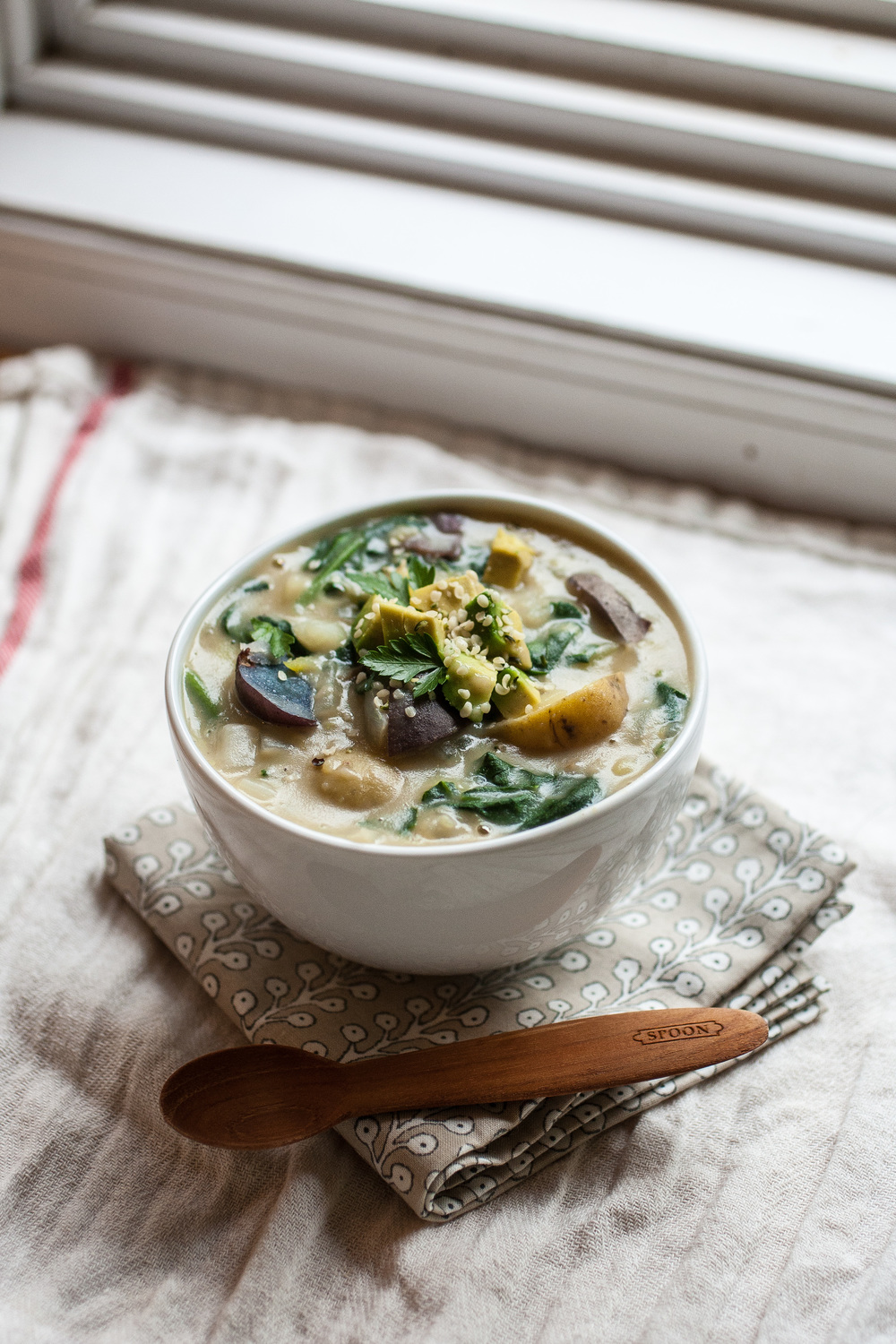 Produce On Parade - Creamy Potato & Spinach Chowder