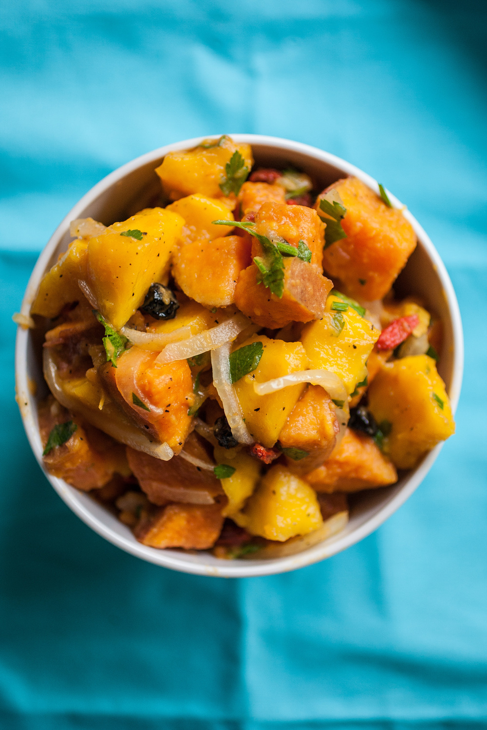Produce On Parade - Sweet Potato Mango Salad