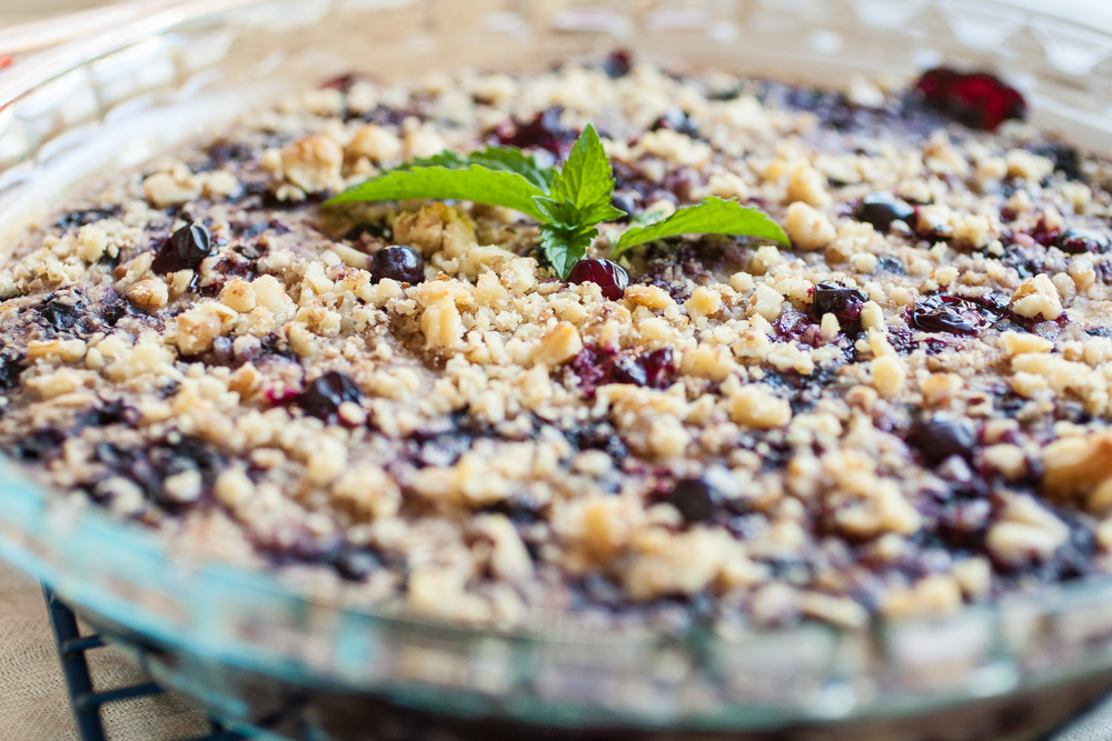 Produce On Parade - Blueberry Maple Baked Oatmeal - Healthier than a ...