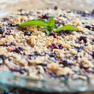Blueberry Maple Oatmeal Bake