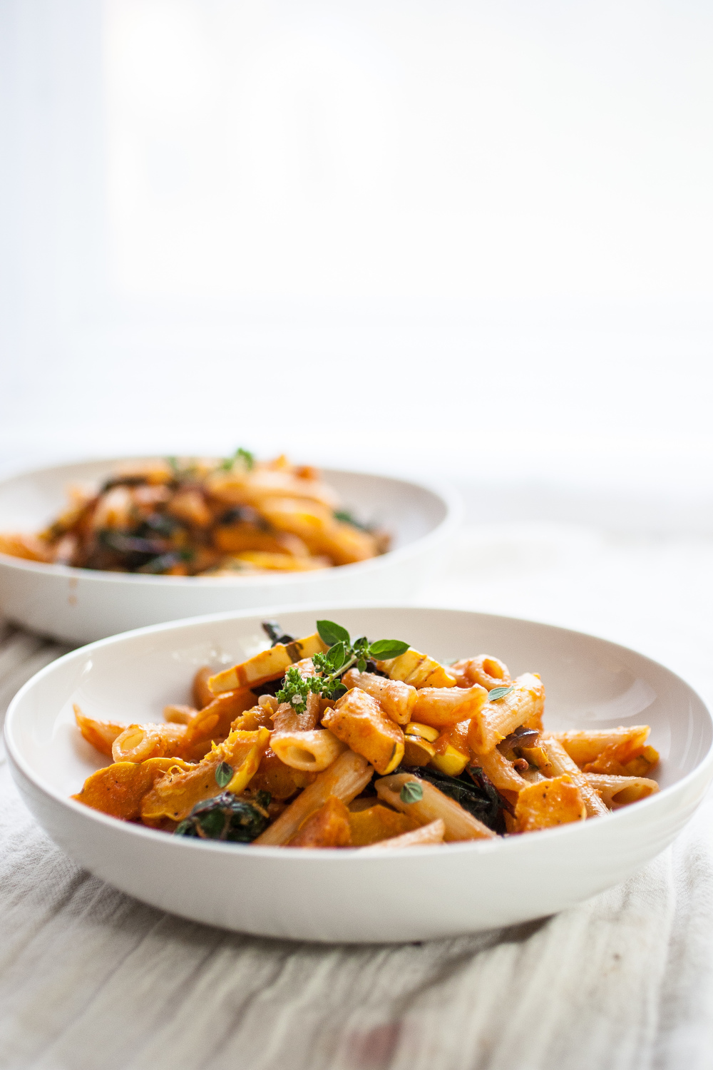 Squash & Chard Penne Pasta - A perfect early autumn penne pasta ...