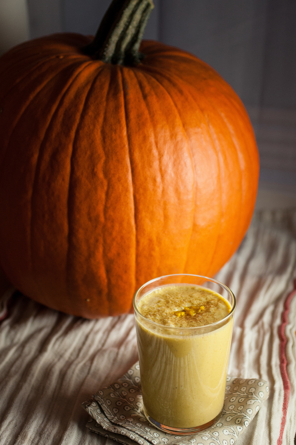 Produce On Parade - Spiced Pumpkin Eggnog - A thick and creamy, non-dairy pumpkin eggnog that's vegan and sweetened only with dates. You'll be amazed how incredible it is!