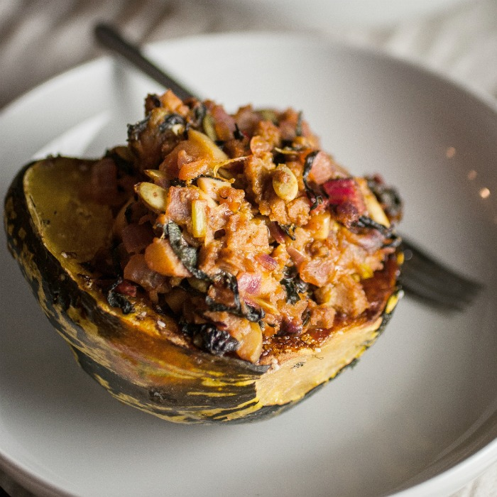 Stuffed Sage Carnival Squash — Produce On Parade