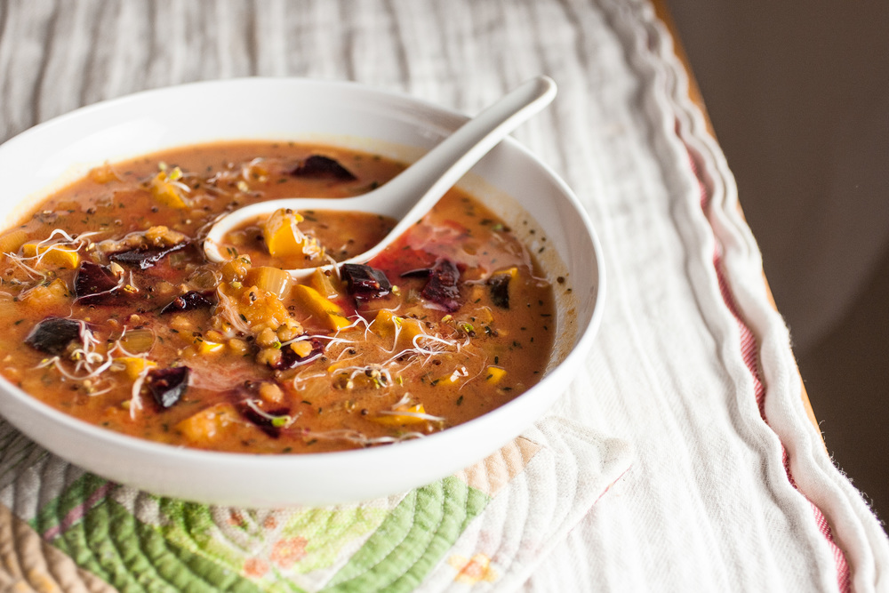 Spiced Lentil Soup with Roasted Beets & Delicata Squash — Produce On ...