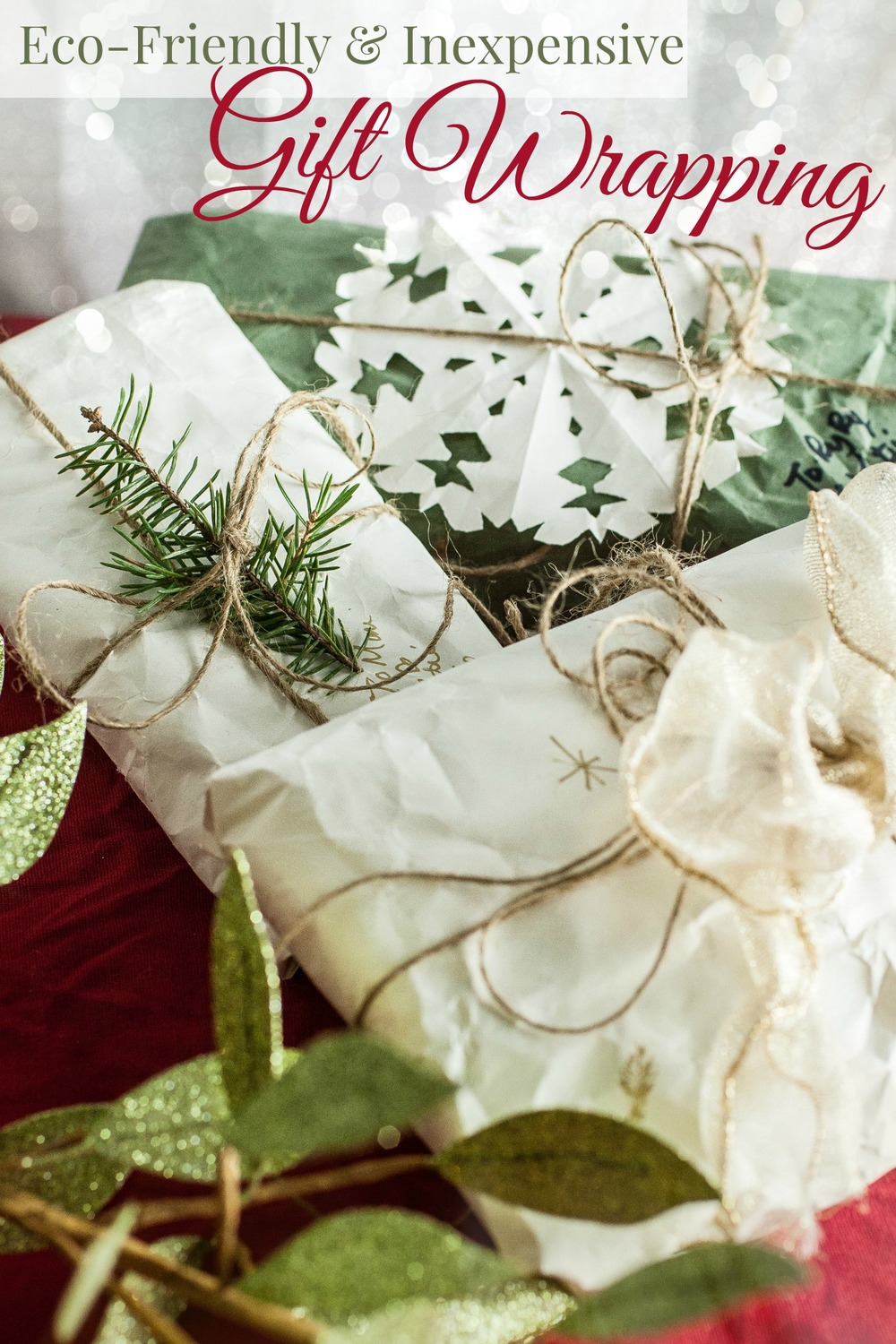 Produce On Parade - Eco-Friendly & Inexpensive Gift Wrapping - No need to buy all that wrapping paper. Here are some great ideas for wrapping gifts on the cheap. Your timeless looking gifts wills stand out!