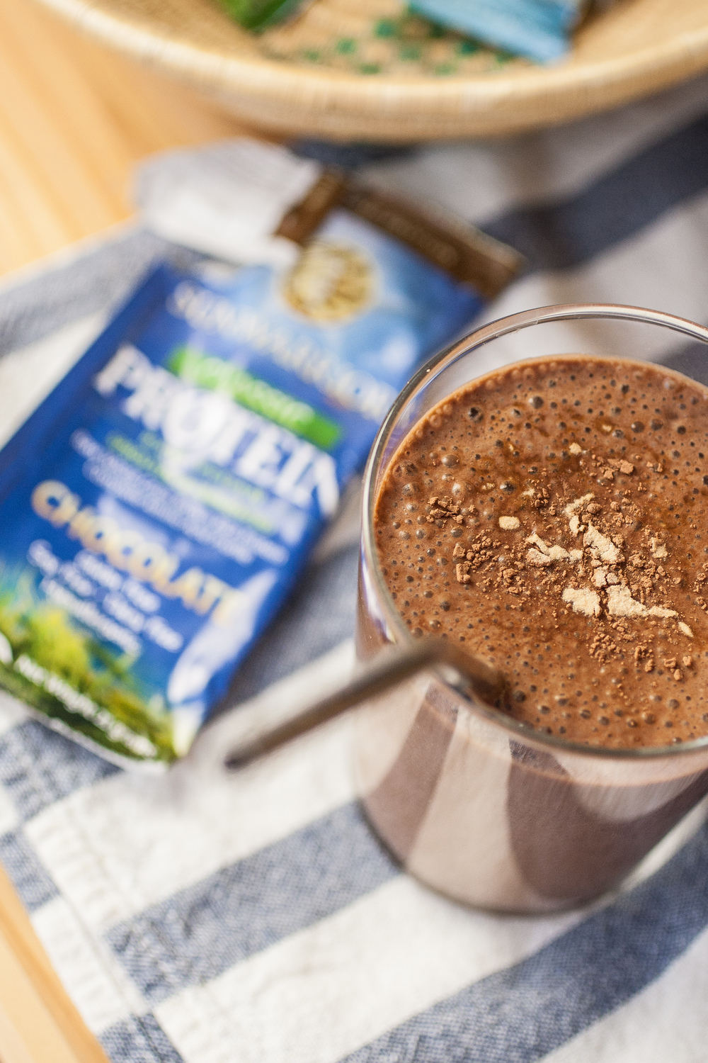 Produce On Parade - Malted Chocolate Shake - Growing up, my grandmother used to make me malted chocolate shakes. Alas, the instant chocolate malt powder isn't cruelty-free, so I decided to make my own! This is a protein packed shake thanks to a little help from Sunwarrior.