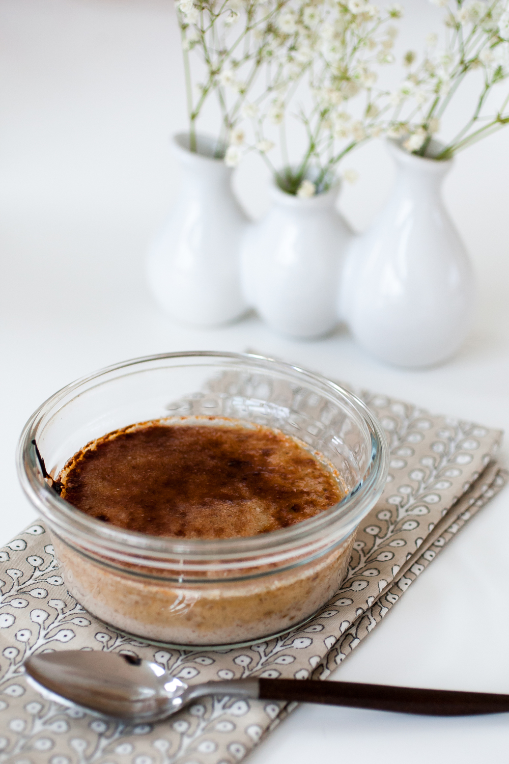 Produce On Parade - Vegan Cardamom & Clove Creme Brulee - A crème brulee you can feel good about! Made cruelty-free with tofu, cashews, and comforting spices, this unique dessert is super easy, light on the sugar, and perfect for any special occasion.