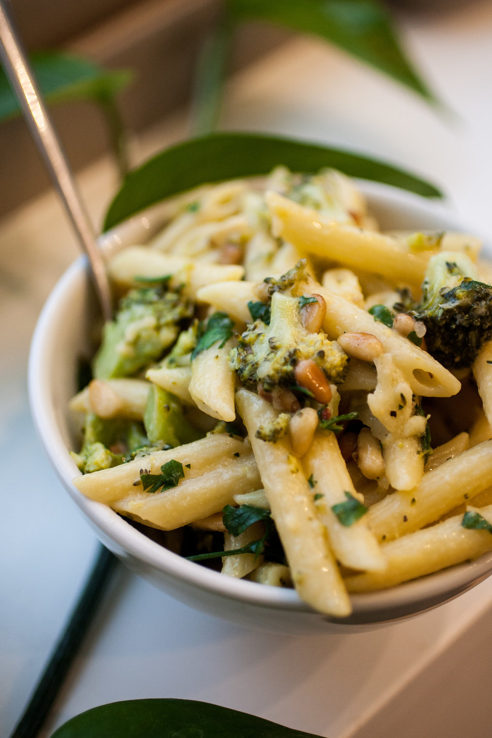 Produce On Parade - PENNE W/ BROCCOLI & MISO PINE NUT GREMOLATA + DREAMFIELDS GIVEAWAY - This bright and zesty pasta is a great way to get in some greens! Toasted pine nuts lend a unique flavor that blend excellently with par-boiled broccoli. It's lemony and earthy with plenty of umami from red miso and nutritional yeast; a plant-based protein meal sure to please the whole family and done in the time it takes to boil the noodles!