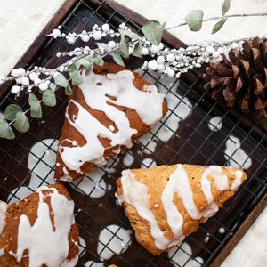 Glazed Gingerbread Scones - Two Ways