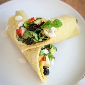 Vegan Waldorf Blue Cheese Crepes
