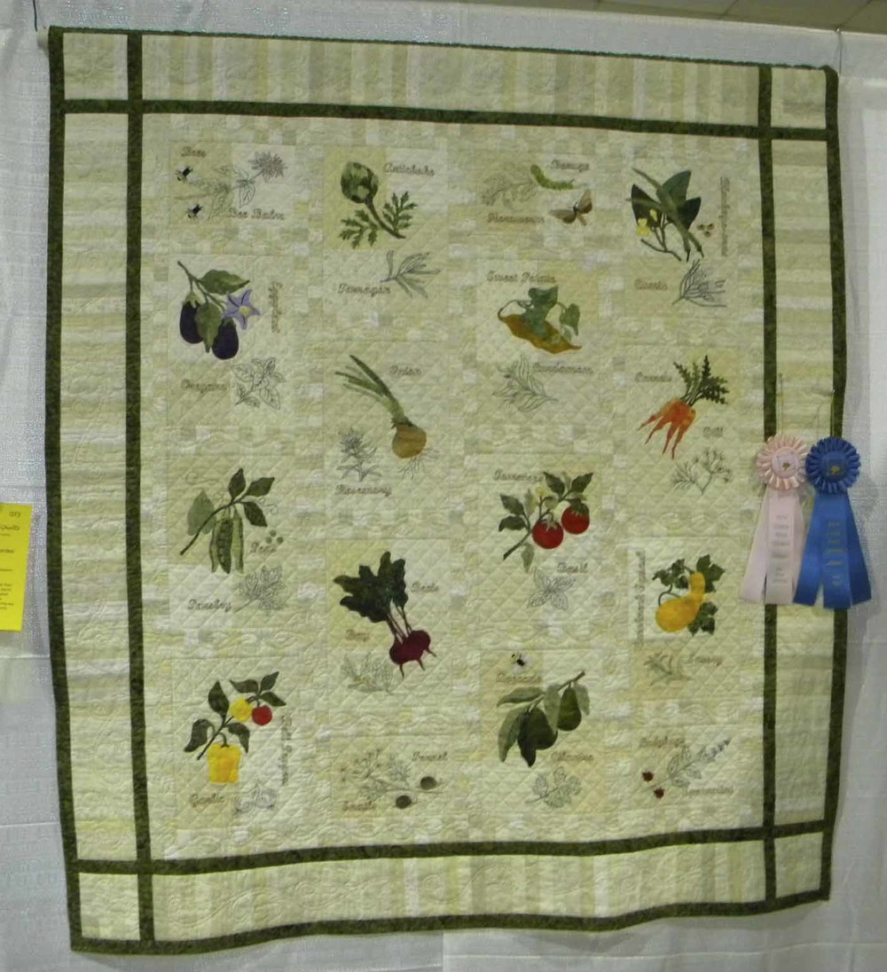 Best Hand Quilting.  Fresh From My Garden by LaVonne Templeton
