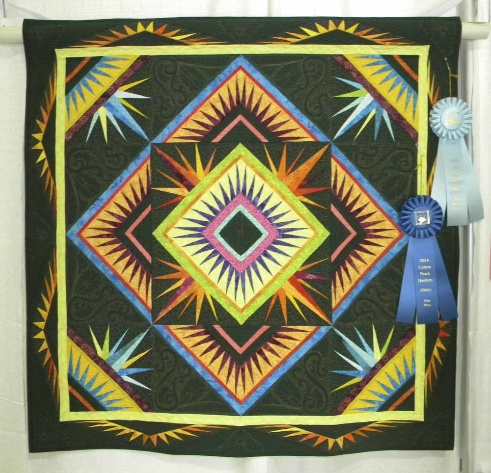Best Machine Quilting.  Yikes! Spikes! by CeCe Westerfield