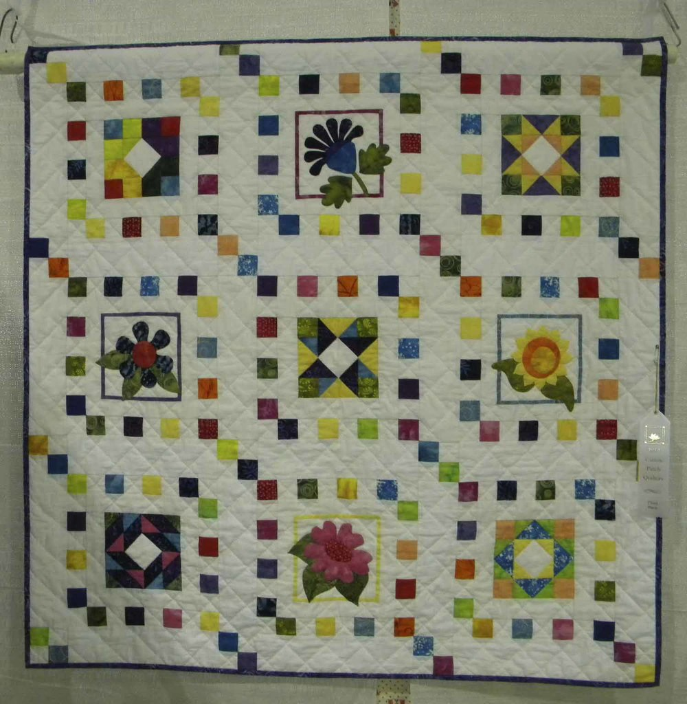 3rd Mixed-Wall. A Quilter's Garden by Nancy Erskine