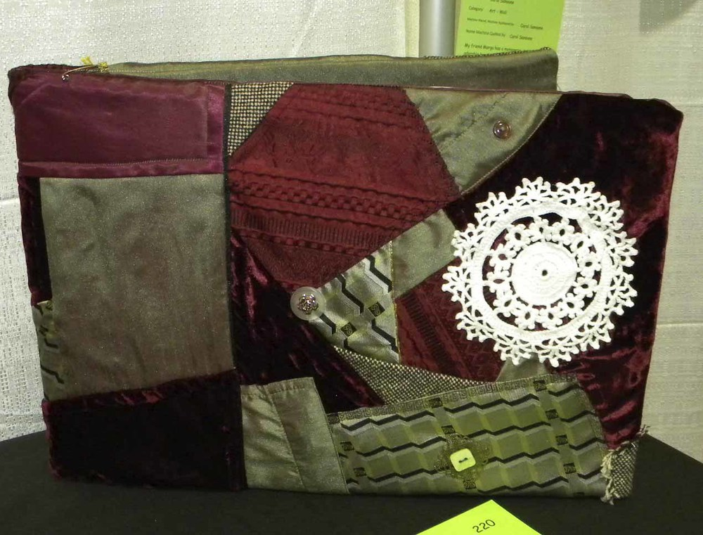 HM Quilted Articles. Crazy Quilt Album by Marilyn Smith
