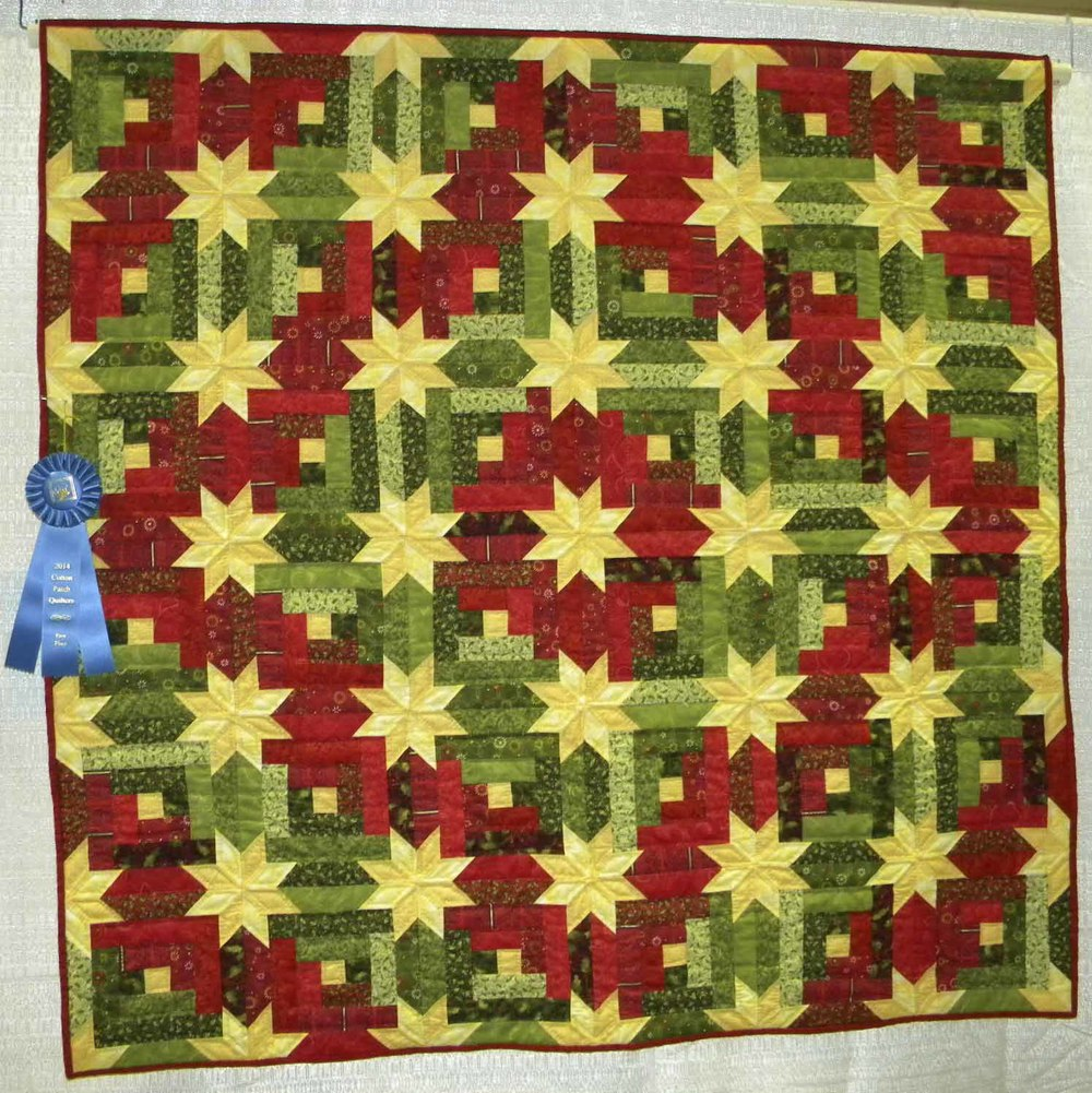 1st Prof Qlt Pieced-Wall. Home for the Holidays by Enid Phillips