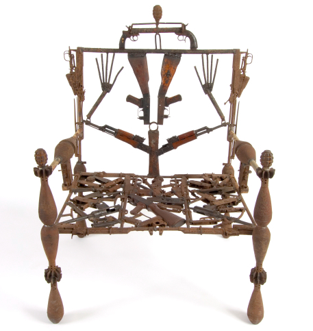 "Gonçalo Mabunda (Mozambican), ""Throne for an African King,"" 2007."
