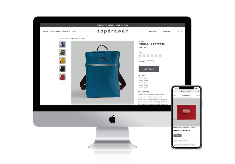 Product page refresh with a mobile responsive design
