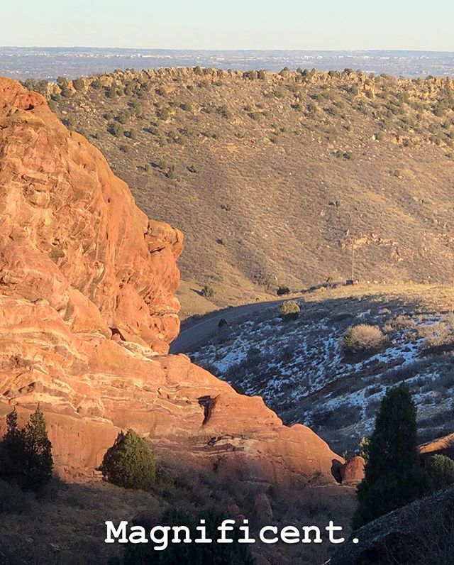 Stopped at Red Rocks on a whim on the way home from a mountain town. God had just turned on the rocks. 😉