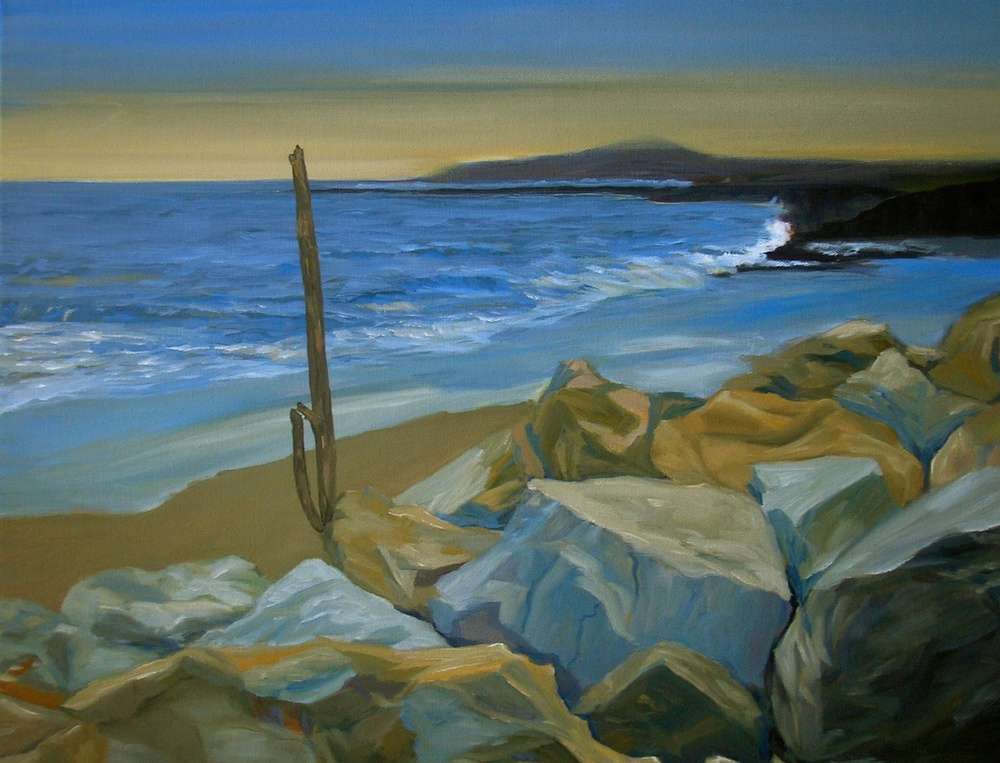 Half Moon Bay, 24 in x 36 in, oil on canvas