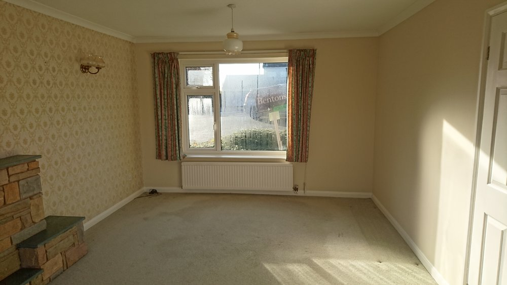 The lounge – Before {Facing the front}