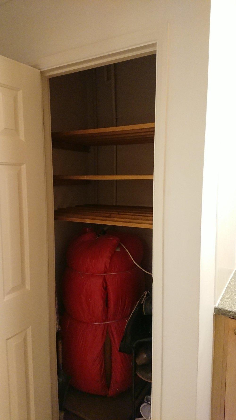 Before airing cupboard