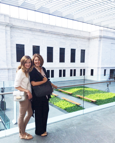 Laura and Sandy in the atrium.  Photo: NG Collective Studio