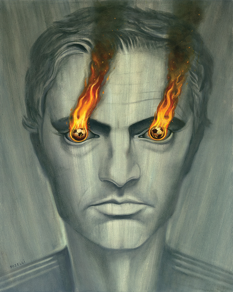 "Mourinho/oil on board/16""x20"""