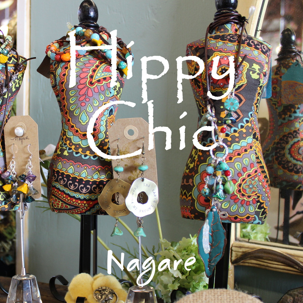 Peace, love, and flowers...they're a state of mind from a more innocent time. To w ear hip jewelry with a message andgroovy knitted accessories to wrap you in coolness, Click Photo..