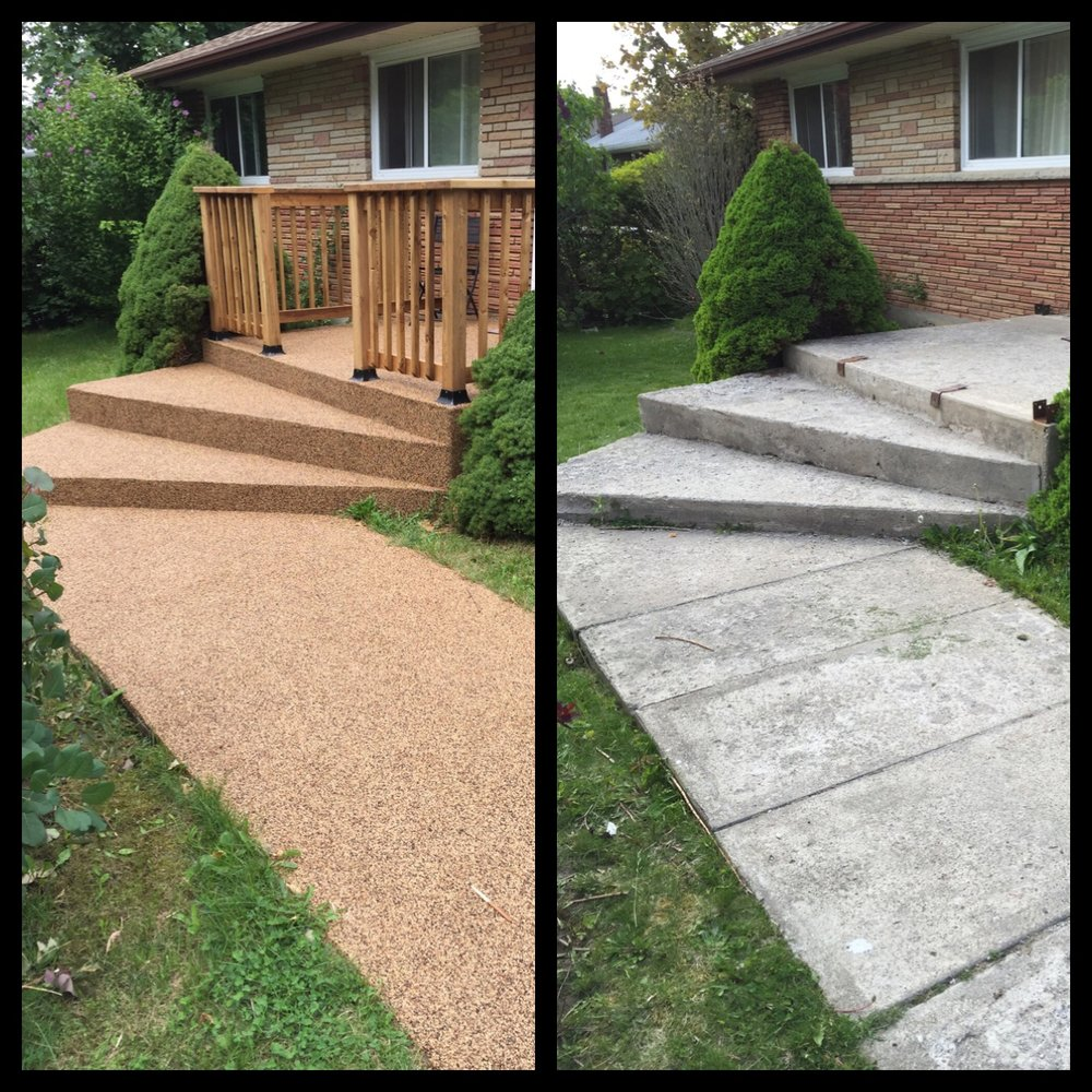Resurfacing A Concrete Patio With Rubberkrete U2014 True North General  Contractors INC.