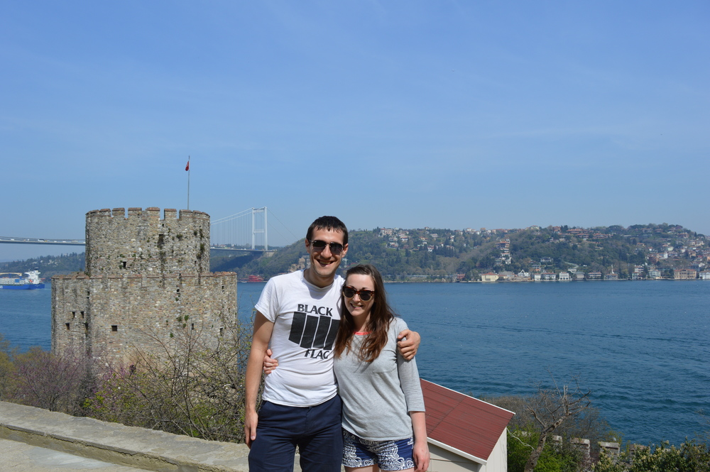 James and I at the Rumeli fortress.