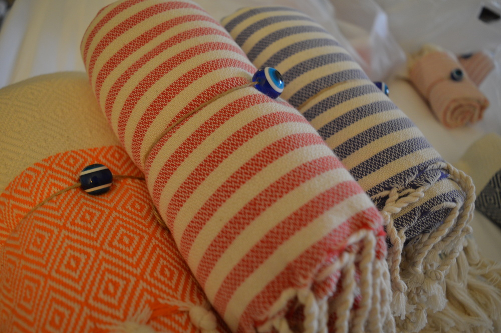 A few of our lovely Turkish towels.