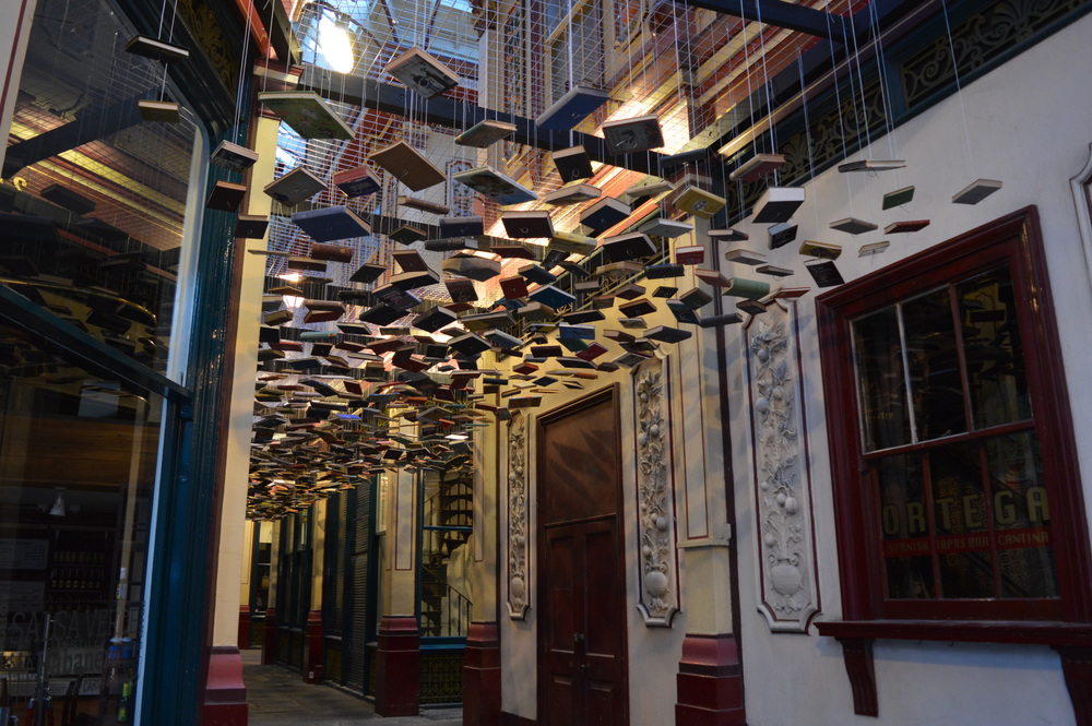 Some flying books down Diagon Alley.