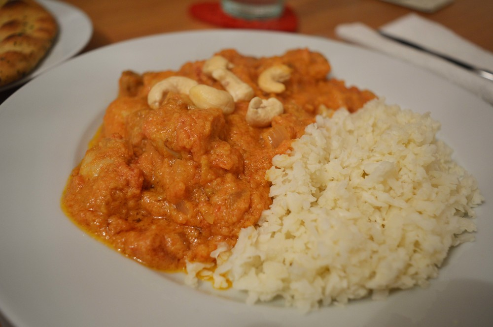 Whole30 korma with cauliflower rice - James' favourite food ever, ever ever