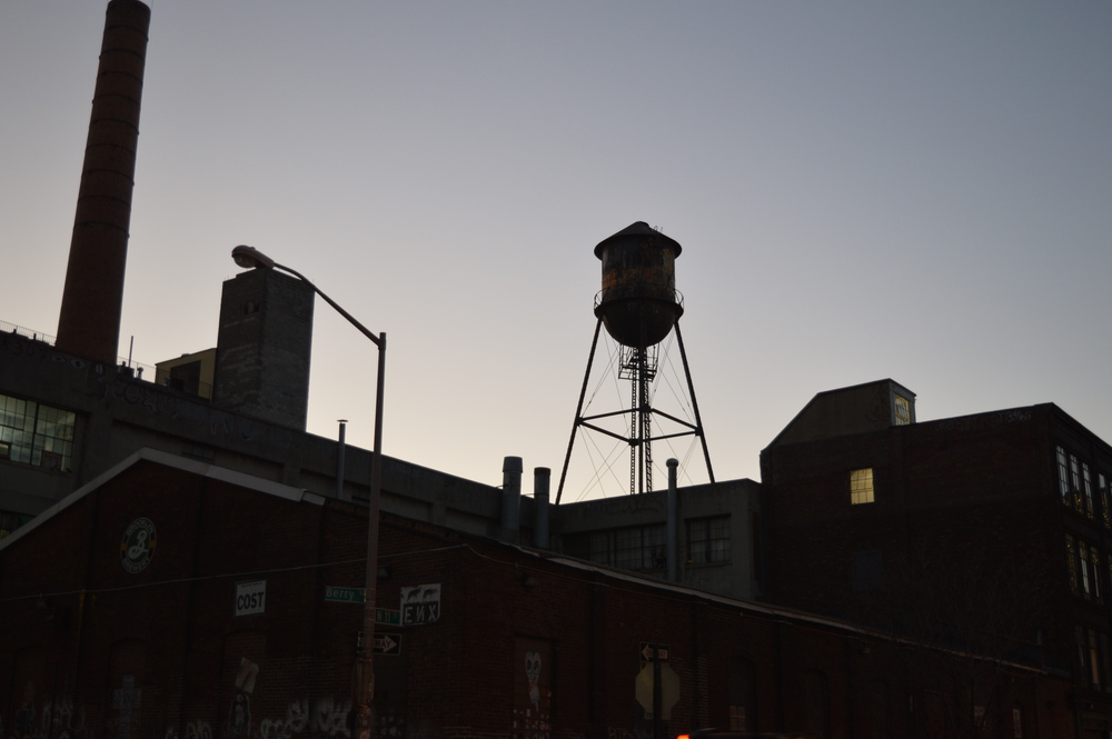 One of the more iconic parts of the Brooklyn skyline, above the Brooklyn beer factory.