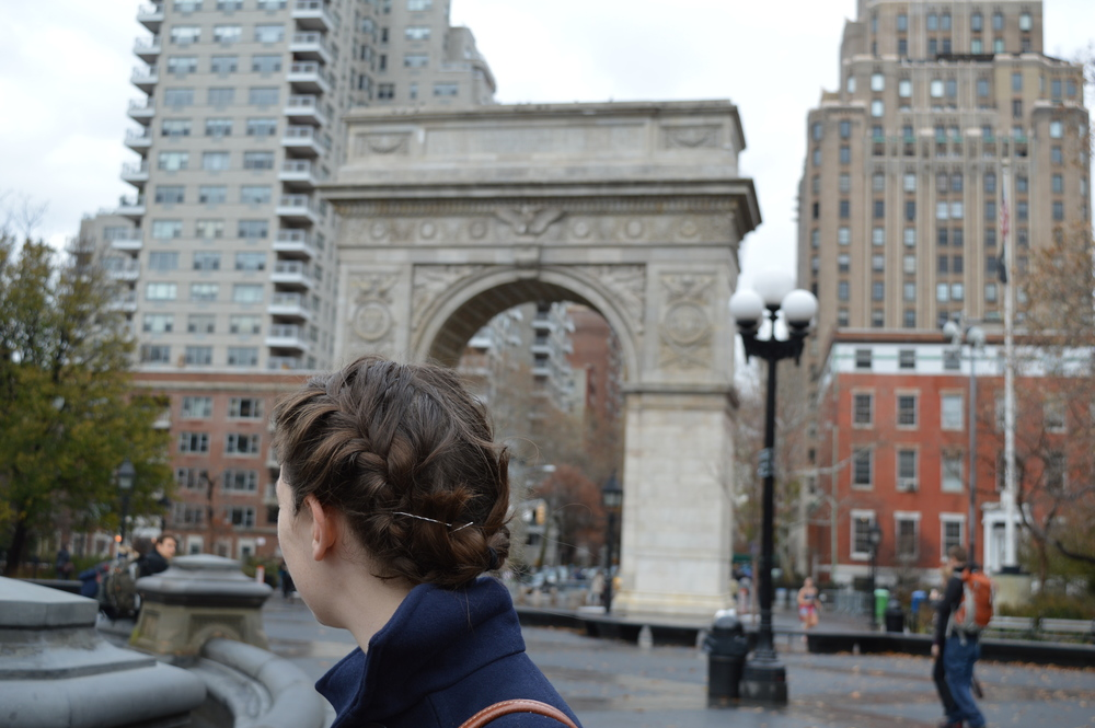 Washington Square Arch, site of many a protest.