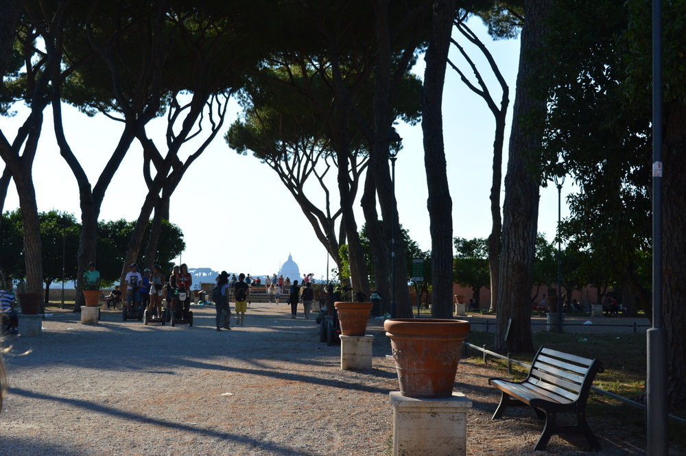 This is a sort of scaled-out version of the Aventine keyhole view, with less well-manicured trees.