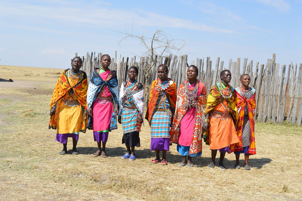 Women from the Masai village we visited in Kenya