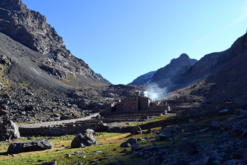 Refuge Toubkal at 3206m, where we spent the night.