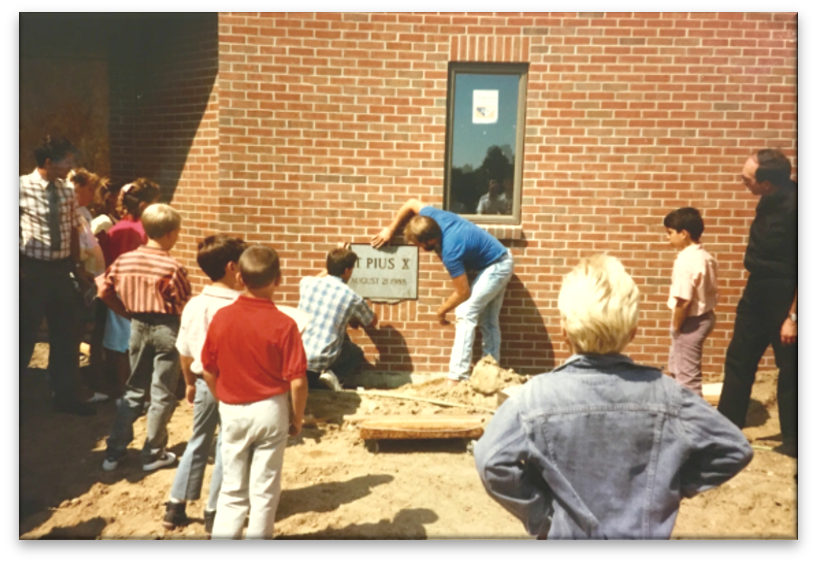 Laying the Cornerstone of the Church
