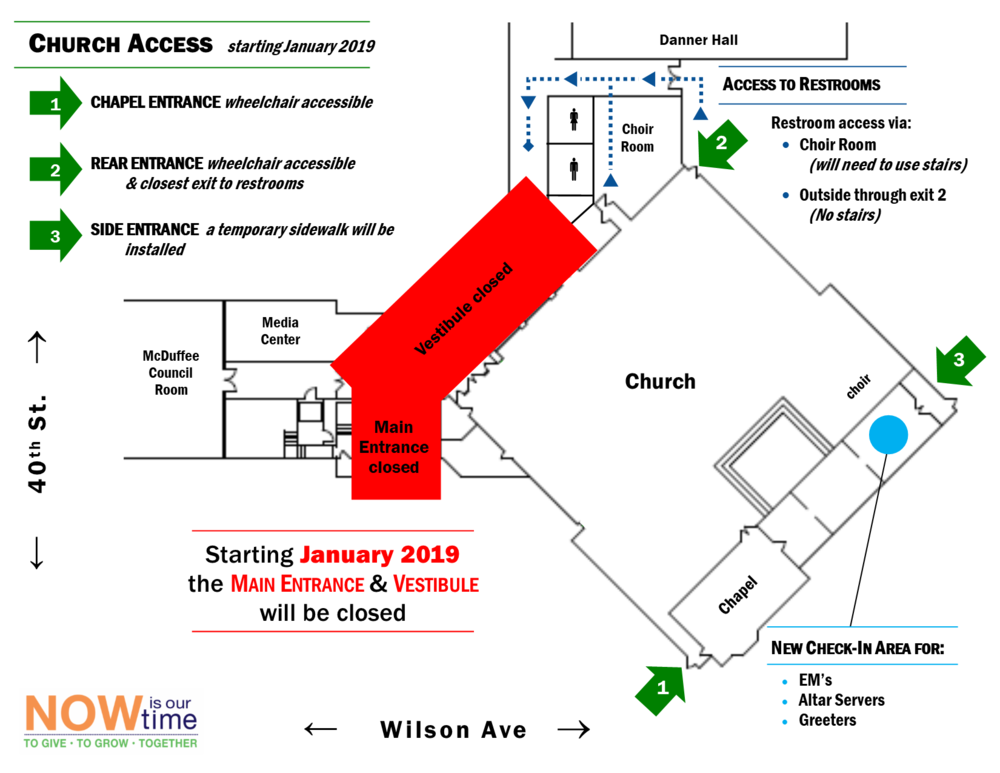 Click Here for Church Access Map  (.pdf version)