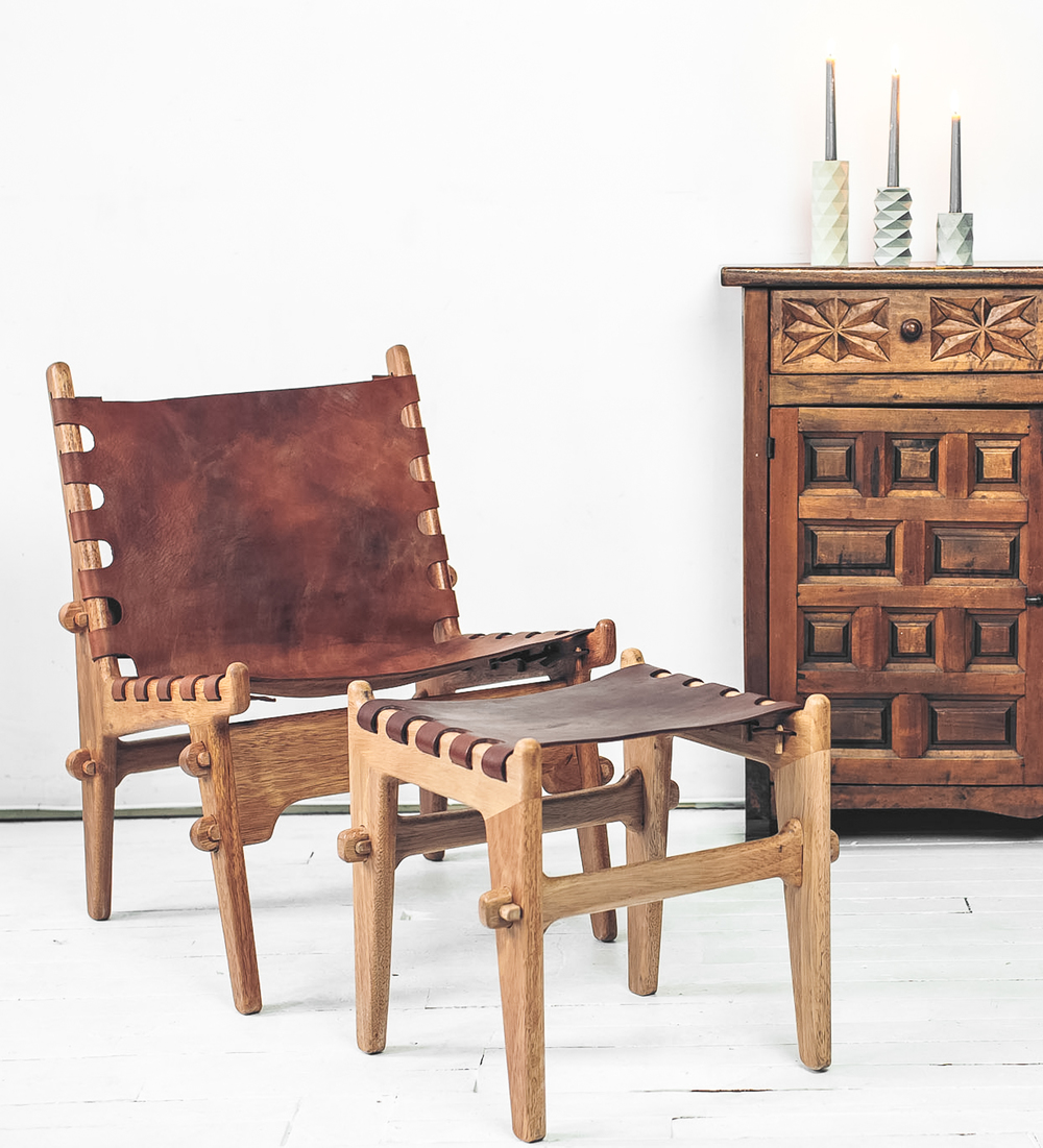Fumador Lounge and Ottoman - Spacio Terreno