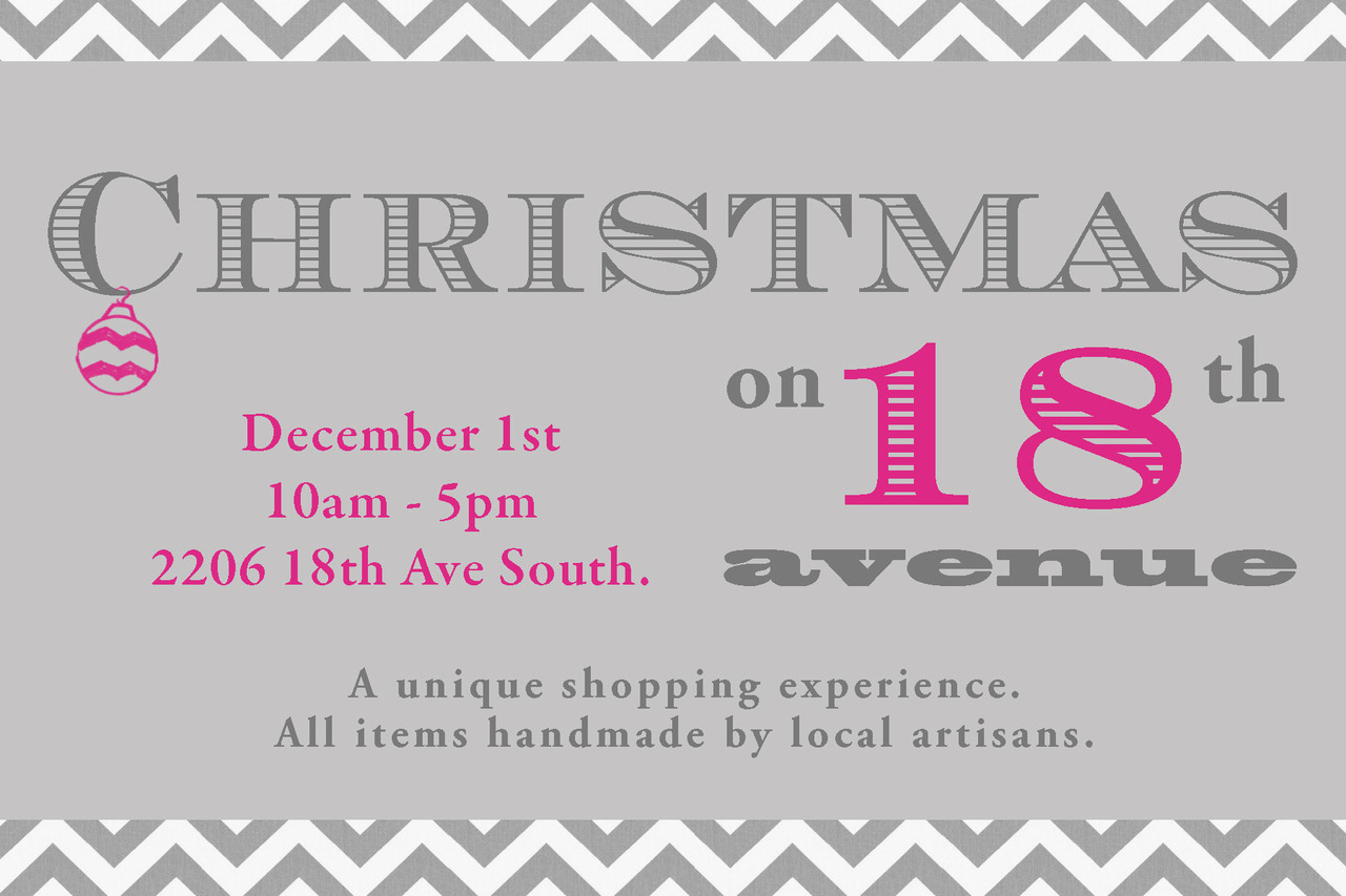 Olivia Terrell Jewelry at Christmas on 18th Avenue…Mark your calendars!! Come one, come all!