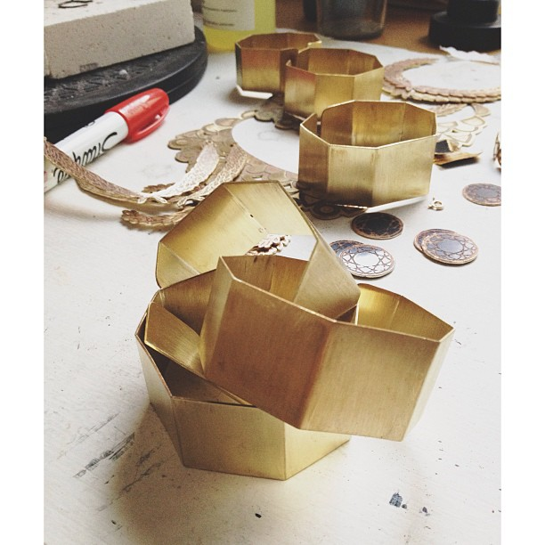 Cuffs in the making. This & more will be available in early November! #oliviaterrelljewelry