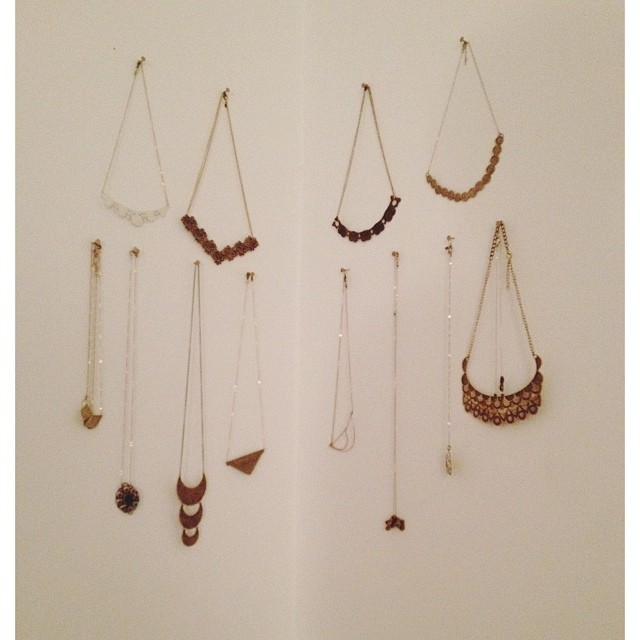 "My necklace ""corner""…and I have more. #jewelerprobz"