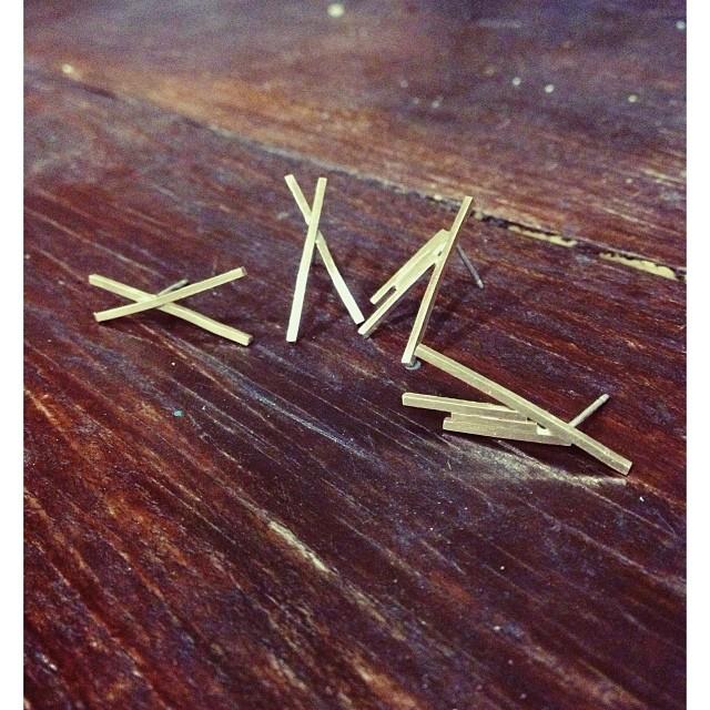 Gold Teepee studs coming soon!!! #oliviaterrelljewelry