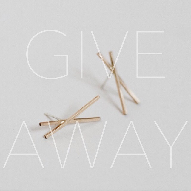 Buenos días, friends! I am excited to announce a GIVEAWAY of a pair of my new (& not-yet-released) gold-filled Teepee Studs! To enter: follow me here, 'Like' this photo & regram it using the hashtag #OTJgiveaway //Winner will be announced Friday morning 4/11. Good luck & spread the word!