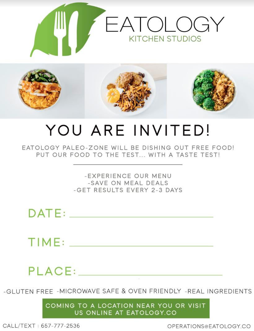 Eatology Demo / Taste Test Party (editable)
