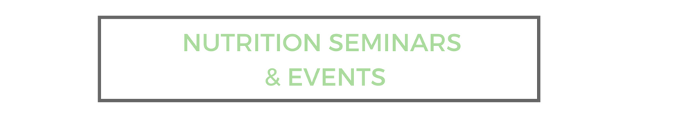 Eatology Nutrition Seminars & Events