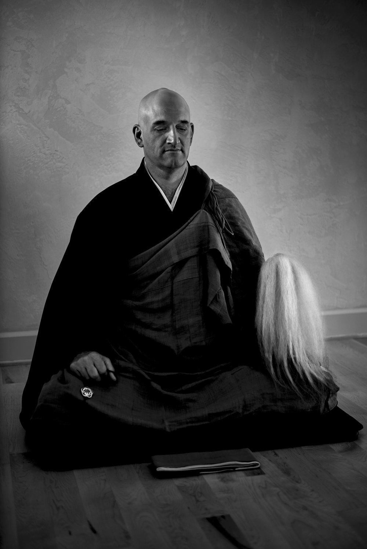 Ejo McMullen, Soto Zen Buddhist Preist,  © 2017  Evan Kaufman