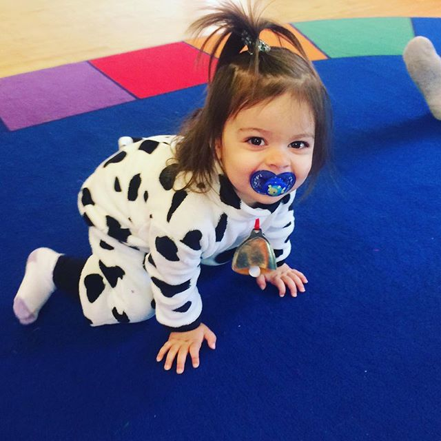 Because sometimes you just have to dress how you feel #moosic #cow #childrensmusicclass #brooklynkids